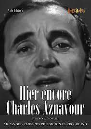 Charles Aznavour: Hier encore (Sheet Music Download Piano & Vocal)
