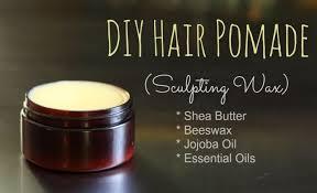 diy hair pomade sculpting wax diy