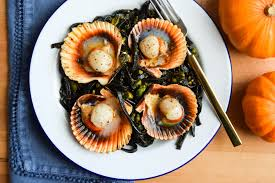 Scallops with Squid Ink Spaghetti ...