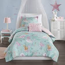 Amazon Com Mi Zone Kids Cozy Comforter Set Colorful Fun Design All Season Children Bedding Girls Bedroom Decor Full Queen Darya Mystical Mermaid Fantasy Aqua Pink Home Kitchen