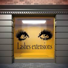Eyelashes And Eyebrows Wall Decal Lashes And Brows Window Etsy Wall Stickers Eyes Salon Wall Art Window Poster