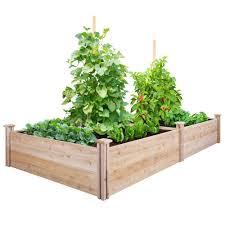 Greenes Fence Vegetable Garden Raised Beds Cedar Raised Garden Beds Building A Raised Garden