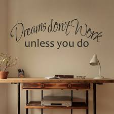 Dreams Don T Work Unless You Do Wall Decal Inspired Word Vinyl Office Room Decor Ebay