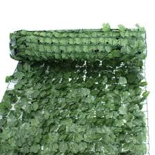Artificial 39 X 94 Faux Ivy Leaf Decorative Privacy Fence Screen Hedge Fencing Wish