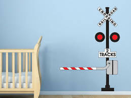 Railroad Crossing Sign Wall Decal Train Themed Room Wall Decal Ebay