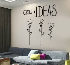 Wall Decal Motivation Quotes Grow Ideas Creative Flower Home Interior Unique Gift Z4015 Office Wall Design Home Decor Quotes Home Office Decor