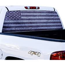 Amazon Com American Flag Truck Window Decal Sticker Clothing