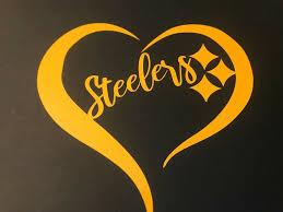 Pittsburgh Steelers Heart Love Car Yellow Vinyl Decal Sticker Pittsburghsteelers Pittsburgh Pennsylvania Ste Pittsburgh Steelers Steelers Tattoos Steelers
