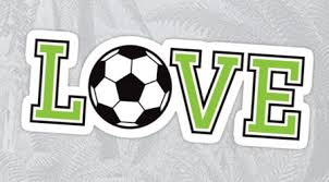 Love Soccer Stickers With Black And White Soccer Ball And Green And Black Text College Sports Font Love Stickers Stickers Sports Fonts
