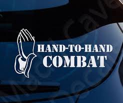 Hand To Hand Combat Christian Decal Car Laptop Graphic Sticker Etsy Christian Car Decals Window Stickers Christian Decals Christian Car Decals