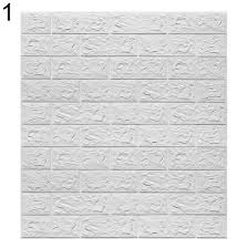 Shop 3d Brick Texture Self Adhesive Wall Decal Home Living Room Wallpaper Sticker Online From Best Wall Stickers Murals On Jd Com Global Site Joybuy Com