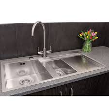 1 5 bowl stainless steel sink