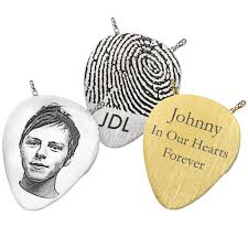 guitar pick urn pendant thumbprint