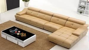 modern genuine leather sectional sofa
