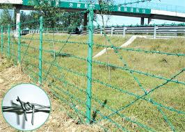 25kg 400m Pvc Coated Barbed Wire Fence Wire Mesh Fence 1 6mm 2 8mm Dia