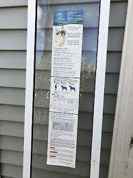 aluminum patio panel sliding glass pet