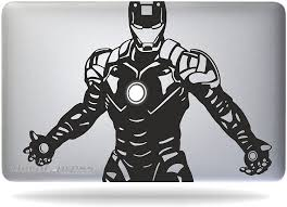 Amazon Com Iron Man Tony Stark Macbook Air Pro 11 13 15 17 Stickers Decal Computers Accessories
