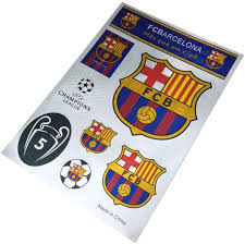 Amazon Com Football Club Soccer Team Logo Stickers Car Glass Wall Laptop Favorite Items Sticker Decal Fc Barcelona 7 5 10 6 Inch Arts Crafts Sewing