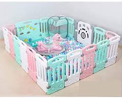 Amazon Com Children S Play Fence Baby Crawling Mat Toddler Guardrail Safety Fence Baby Home Indoor Playground Qyszyg Color Twenty First Pink Garden Outdoor