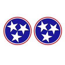 Tennessee Tri Star 2 Pack Of Decals Red Stickers Decals Sport Seasons Com Athletic Shoes Apparel And Team Gear Sport Seasons