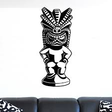 Tiki Statue V7 Wall Sticker Decal World Of Wall Stickers