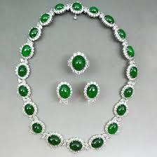 jade and diamond jewellery set jade