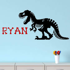 Amazon Com Dinosaur Wall Decal Dinosaur Bones Personalized Vinyl Wall Decal T Rex Home Kitchen