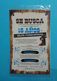 Invitacion Vaquera 15 Anos Quinceanos Xv Anos Vaquera Cowboy