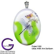 Dragonfly Fused Glass Decal Or Ceramic Waterslide Go Fusing