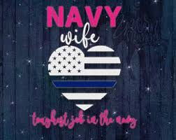 Navy Wife Decal Etsy
