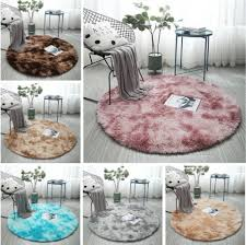 Fluffy Round Rug Carpets For Living Room Decor Faux Fur Rugs Kids Room Long Plush Rugs For Bedroom Shaggy Area Rug Modern Mats Buy At The Price Of 5 57 In Aliexpress Com
