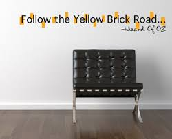 Follow The Yellow Brick Road Beautiful Wall Decals