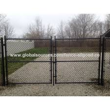 Chinablack Plastic Coated 6 Foot Chain Link Fence Gates Black Vinyl Chain Link Gate On Global Sources