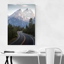 Shop Noir Gallery Grand Teton Mountains Wyoming Unframed Art Print Poster Overstock 27439540
