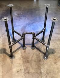 black pipe table frame table legs diy