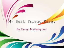 my best friend essay