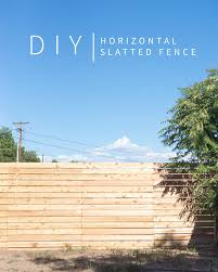 Horizontal Slatted Fence My Favorite Diy App Vintage Revivals