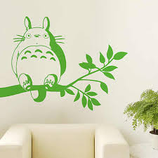 Totoro Wall Decal Vinyl Wall Stickers Decal Decor Home Decorative Decoration Anime Totoro Car Sticker Totoro Decals Japanese Cartoon Totorosticker Decal Aliexpress