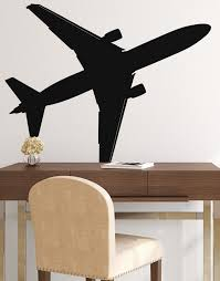 Large 747 Airplane Wall Decal Sticker By Stickerbrand Flying Plane 6031