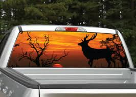 Buck Deer Elk Sunset 4 Hunting Rear Window Decal Graphic For Truck Ebay
