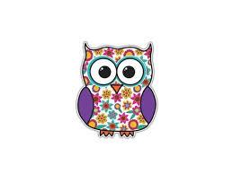 Owl Sticker Purple Flowers Bird Decal By Megan J Designs Laptop Window Car Vinyl Sticker Newegg Com