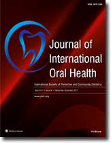 Journal of International Oral Health : Table of Contents