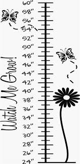 Watch Me Stickers Grow Growth Chart Vinyl Decal Kit Name Ticks And Numbers For Sale Online Ebay