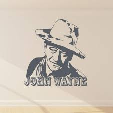 John Wayne Wall Decal Style And Apply