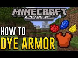 minecraft ps3 how to dye armor get