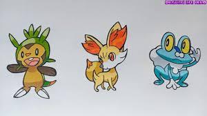 Cách vẽ Bộ 3 Pokemon Khởi Đầu Vùng Đất Kalos Đẹp và Đơn giản - YouTube