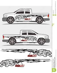 Angry Tiger Decal Graphics For Truck And Vehicles Stock Vector Illustration Of Decoration Stencil 107007231