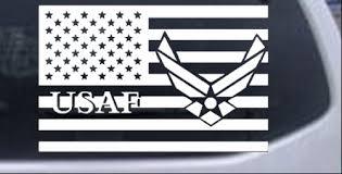 Us American Flag Air Force Usaf Car Or Truck Window Decal Sticker White 6x9 4 Ebay