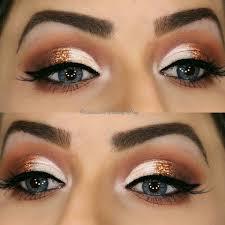 half moon cut crease makeup look and