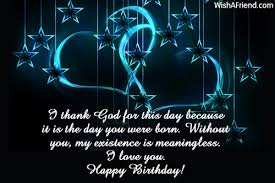 i thank god for this day birthday wish for wife